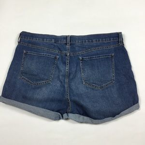 Old Navy Shorts - Old Navy Cuffed Jean Shorts Womens Size 14